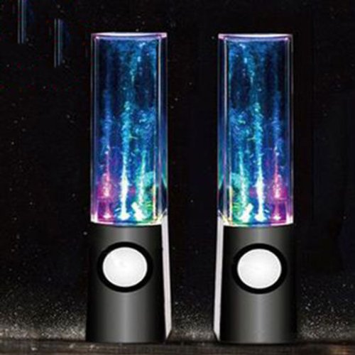 Led Dancing Water Show Music Fountain Light Mini Computer Speakers For Laptop Pc Mp3