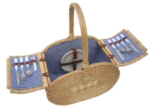 SP126 Classic Gourmet Picnic Basket For 2 By Sutherland Baskets Wedding Gifts