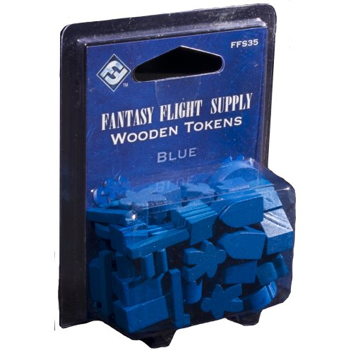Fantasy Flight Supply: Wood Tokens: Blue - 1
