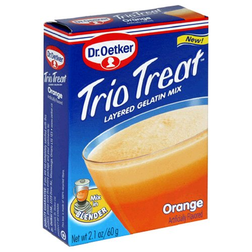 Buy Dr. Oetker Trio Treat Gelatin Mix, Orange, 2.1-Ounce Boxes (Pack of 24) (Dr. Oetker, Health & Personal Care, Products, Food & Snacks, Baking Supplies)