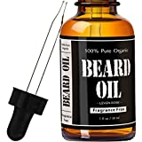 Beard Oil and Conditioner, Fragrance Free, Glass Bottle with Glass Dropper, Gives You a Respectable Beard That Is Healthy Looking, and Kissable thumbnail