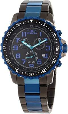 Invicta Men's 11371 Specialty Pilot Design Chronograph Black Dial Watch