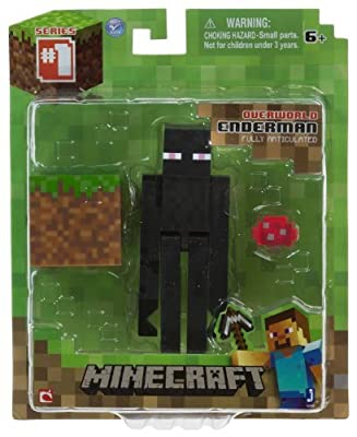 "Overworld Endermen ~3.75"" Minecraft Mini Fully Articulated Action Figure Pack"