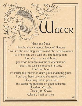 Water-Invocation-8-12-x-11-Parchment-Print
