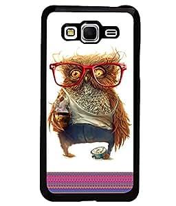 PrintVisa Metal Printed Owl Designer Back Case Cover for Samsung Galaxy Grand Prime G530F/ G530H-D4978