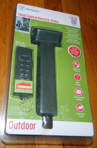 Westinghouse Outdoor 6-Outlet Ground Stake with Programmable & Photocell Timers (Power Stake With Timer compare prices)