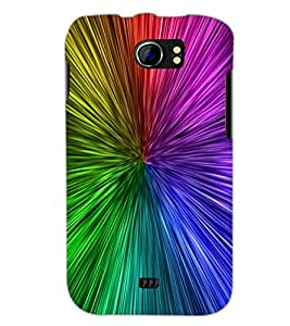 PrintDhaba Rainbow Colours D-2277 Back Case Cover for MICROMAX A110Q CANVAS 2 PLUS (Multi-Coloured)