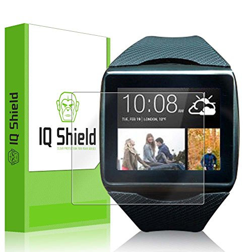 IQ Shield LiQuidSkin - HTC One Wear Smartwatch Screen Protector with Lifetime Replacement Warranty - High Definition (HD) Ultra Clear Smart Film - Premium Protective Screen Guard - Extremely Smooth / Self-Healing / Bubble-Free Shield - Kit comes in F