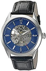 Lucien Piccard Men's LP-10660A-03 Loft Stainless Steel Watch with Black Leather Band