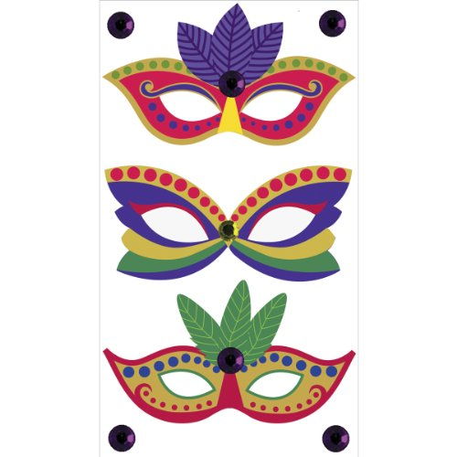 EK Success Brands Jolee's Boutique Decorative Stickers, Mardi Gras Masks Dress Ups