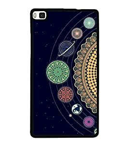 Solar System 2D Hard Polycarbonate Designer Back Case Cover for Huawei P8