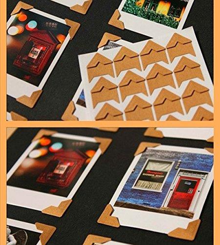 [ARTASY WORKSHOP®][並行輸入品] DIY 手作り カワイイ 無地 48個 ビニールコーナー 2枚セット フォトアルバム用 写真用 三角コーナー Vinyl Corner