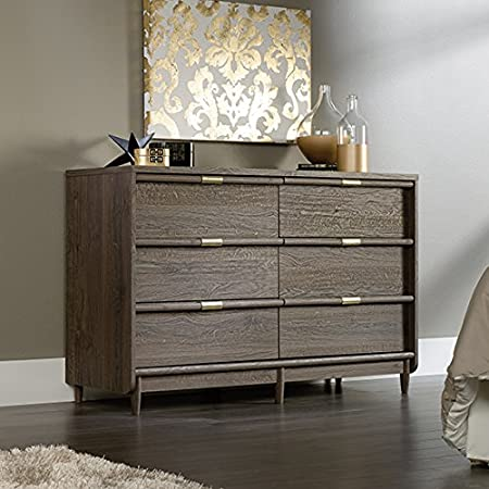 Sauder International Lux Dresser in fossil oak