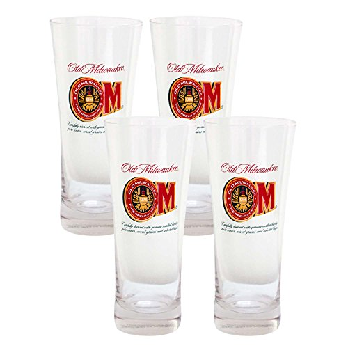 old-milwaukee-beer-4-pack-pilsner-glasses