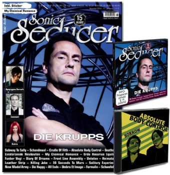"Sonic Seducer 11-10 mit exkl. 6-Track ""Sorrow""-EP v. Absolute Body Control + My Chemical Romance-Sticker + CD; Bands: Die Krupps (Titel), Covenant, Katra, Apoptygma Berzerk uvm."