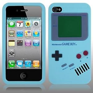 """AIO étui en Silicone """"GAMEBOY"""" Housse Coque pour Apple iPhone 4"""