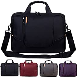 BRINCH(TM) 14 inch New Soft Nylon Waterproof Laptop Computer Case Cover Sleeve Shoulder Strap Bag with Side Pockets Handles and Detachable for Laptop / Notebook / NetBook / Chromebook (Asus/DELL/HP/Samsung...) ,Colour Black