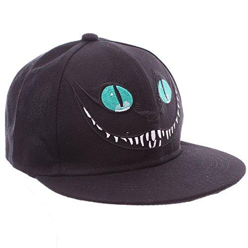 Alice in Wonderland Cheshire Cat Black Snapback Baseball Hat (Cheshire Cat Cap compare prices)