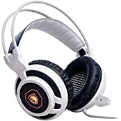 SADES Arcmage PC Gaming Headset Headphone For PC/Notebook/Laptop (White)