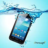 Galaxy S4 Waterproof Case, iThrough Waterproof, Dust Proof, Snow Proof, Shock Proof Case with Touched Transparent Screen Protector, Heavy Protective Carrying Cover Case for Samsung Galaxy S4 (Black)