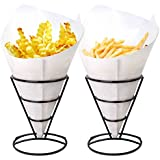 1 X 2 French Fry Stand Cone Basket Holder by Cobble Creek for Fries Chips Appetizers
