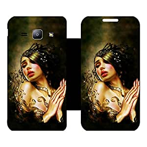 Skintice Designer Flip Cover with Vinyl wrap-around for Samsung Galaxy J1 , Design - fantasy