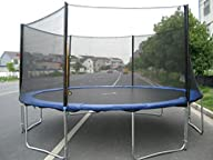 ExacMe TÜV Approved 8 10 12 13 14 15 Ft Trampoline w/ Safety Pad and Enclosure Net and Ladder…