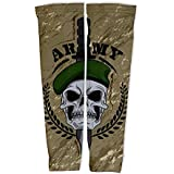 ScudoPro Army Skull Compression Arm Sleeves UV Protection Unisex - Walking - Cycling - Running - Golf - Baseball...