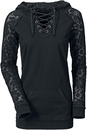 Gothicana by EMP Lace Sleeve Felpa donna nero L