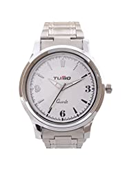 Turbo Youth Analogue White Dial Men's Watch - R111-001M