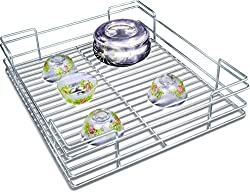 Now & Ever Stainless Steel Kitchen Utensil Basket, 17x20x4 inches, Silver, 1-piece