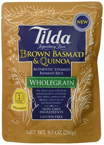 Tilda Legendary Rice Steamed Basmati, Brown & Quinoa, 8.5 Ounce (Pack of 6) (Tilda Basmati Rice Legendary Rice compare prices)