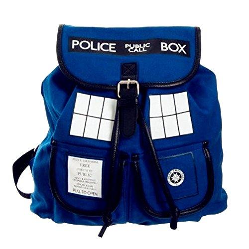 Doctor Who Dr. Blue Tardis Backpack (Dr. w-02) (Blue)