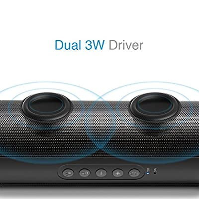Bluetooth Speakers: 01 Audio Duo T2 Portable Wireless Speaker, 12 Months Warranty, IPX4 Water Repellent,High-Definition Sound Quality with 10 Hours Playtime for Outdoors / Indoor Entertainment