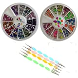 MASH-Rhinestones-2400-Piece-12-Color-Nail-Art-Nailart-Manicure-Wheels