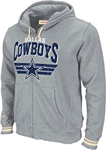 Dallas Cowboys Mitchell & Ness Stadium Vintage Grey Full Zip Premium Hooded... by Mitchell & Ness