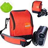 First2savvv high quality anti-shock orange Nylon camcorder case bag for SONY NSC-GC1 NSC-GC3 MHS-CM5 MHS-FS1 MHS-FS1K MHS-FS2 MHS-FS2K MHS-FS3 MHS-PM1 MHS-PM5 MHS-PM5K MHS-TS10 MHS-TS20K MHS-TS22 HDR-PJ810E HDR-PJ530E HDR-PJ330E HDR-PJ240E HDR-CX240E pan