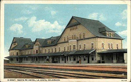 Santa Fe Hotel La Junta, Colorado Original Vintage Postcard (Santa Fe Hotels compare prices)
