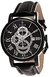 Titan Classique Chronograph Black Dial Mens Watch - NE9234NL01J