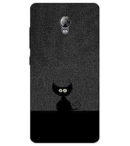Chiraiyaa Designer Printed Premium Back Cover Case for Lenovo Vibe P1 (cat black hide) (Multicolor)