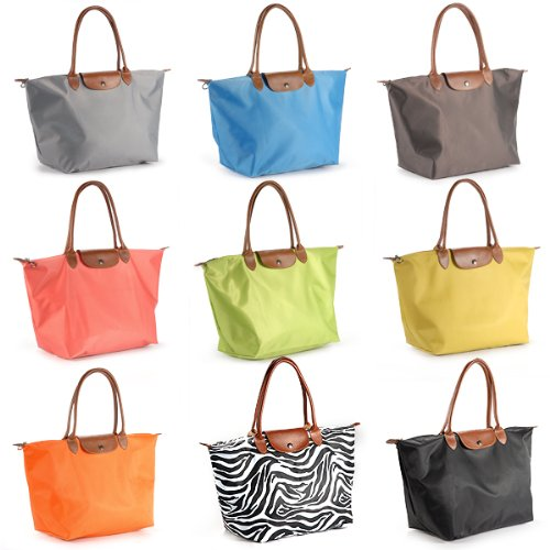 Strong super Thick waterproof beach bag foldable women handbag shopper tote leather handle large best quality grey blue orange pink yellow green multi color rainbow color