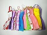 10 X Vestidos Pretty Doll para mu�eca. Barbie compatible.
