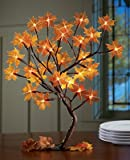 LIGHTED MAPLE TREE BRANCHES FALL HARVEST THANKSGIVING HOME DECOR