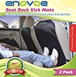 Kick Mats with FREE BONUS GIFTS - 2 Pack - Premium Quality Car Seat Back Covers best for protecting your upholstery - Extra Large Car Seat Protectors fit most Vehicles - Lifetime Warranty