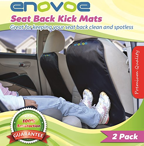 Big Save! Kick Mats with FREE BONUS GIFTS - 2 Pack - Premium Quality Car Seat Back Covers best for p...