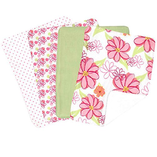 Hula Baby Burp Cloth Set 4 Piece