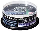 TDK データ用ブルーレイディスク 25GB BD-R(1回録画用) 4X ホワイトワイドプリンタブル 20枚スピンドル BRD25PWB20PS