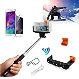 COCO-VISION Rechargable Selfie Stick with Wireless Bluetooth Remote Button Shutter Extendable Self Portraits Pole Handheld Monopod For iPhone 6 6 Plus 5 5S 5C 4 4S Samsung Galaxy S2 S3 S4 S5 Note 2 Note 3 Note 4, HTC One M7 M8, Google Nexus 4 5, LG G2, Sony Xperia Z1 Z2 Compatble for Smart Phones Compatble with IOS 4.0/ Android 3.0 and above system (Black)