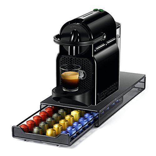 Nespresso Original Line Inissia D40 Black Espresso Maker with Bonus 40 Capsule Storage Drawer