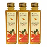 Khadi Mauri Honey Face Wash Pack of 3 Herbal Natural Ayurvedic 250 ml each